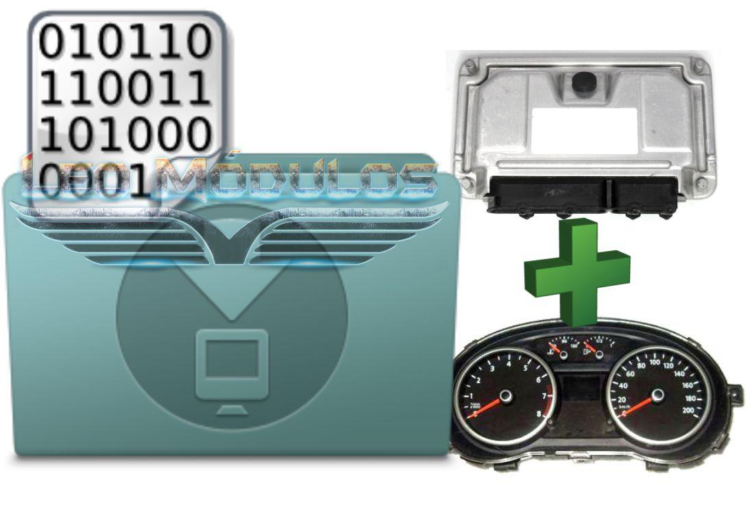 Kit de Arquivos VW Gol Painel Motorola 5U0920821K V14 - ECU ME7.5.30 032906032CJ