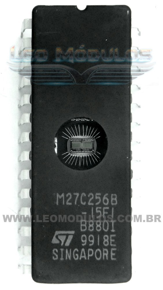 Eprom ST 27C256 DIP28 - Componente de ECU Leo Módulos