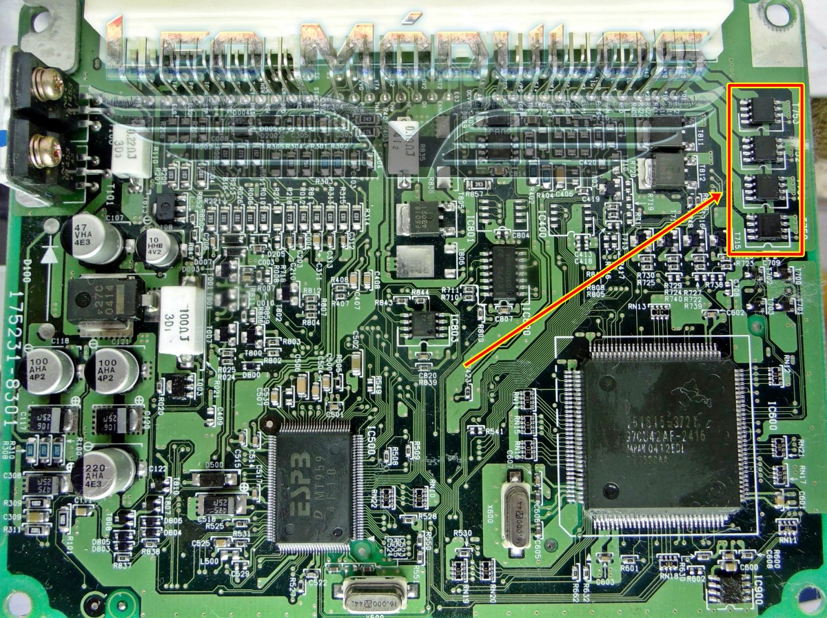 Motorola C5664 EEC-IV - Componente conserto de ECU Drive Leo Módulos