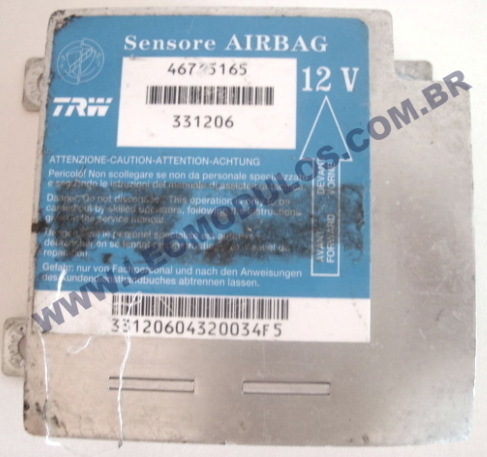 Módulo Air-Bag TRW 331206 46765165 Fiat  Palio Siena - Leo Módulos