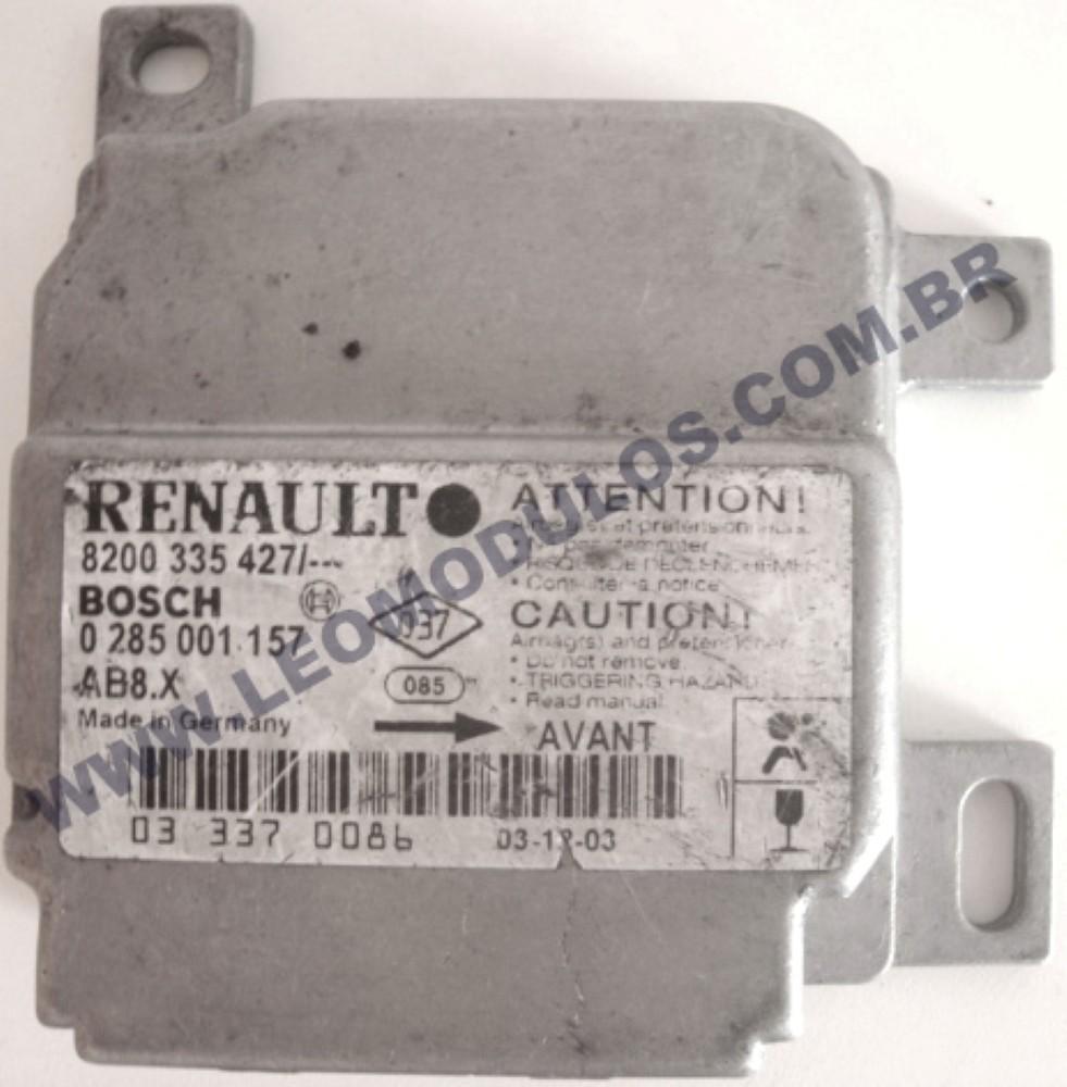 Módulo Air-Bag Bosch 0285001157 8200335427 Renault Clio Kangoo Megane - Leo Módulos