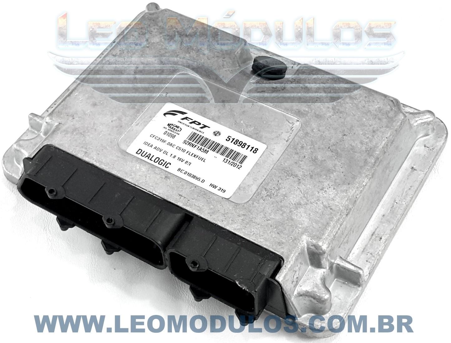 Módulo de Câmbio Automático - Marelli CFC319F.0AC - 51898118 - Fiat Idea Adventure 1.8 16V Flex Dualogic - BC.0103895.D CFC319F0AC - Leo Módulos