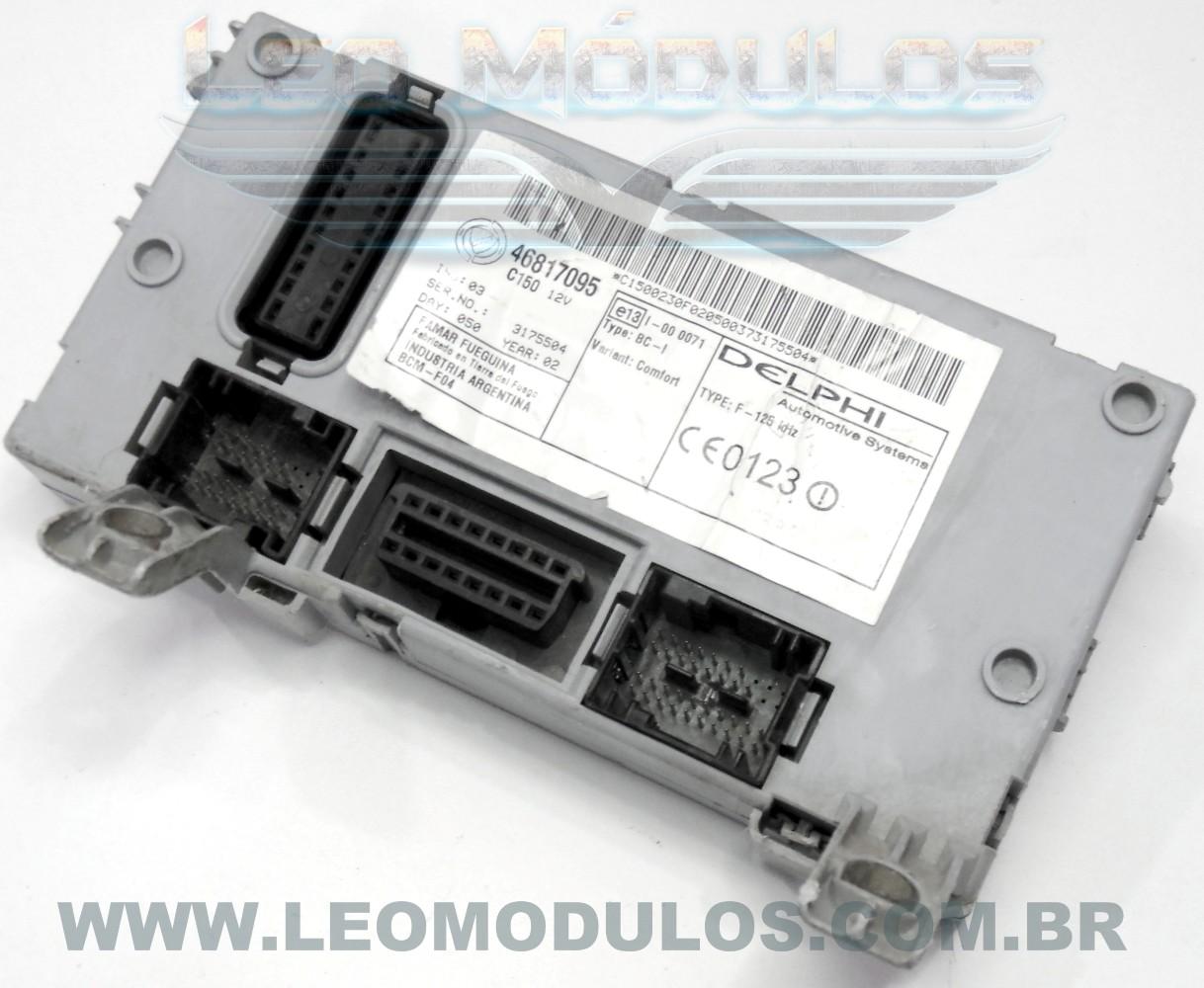 Body Computer BC Delphi 46817095 - Fiat Palio Siena Strada 1.0 16V - Leo Módulos