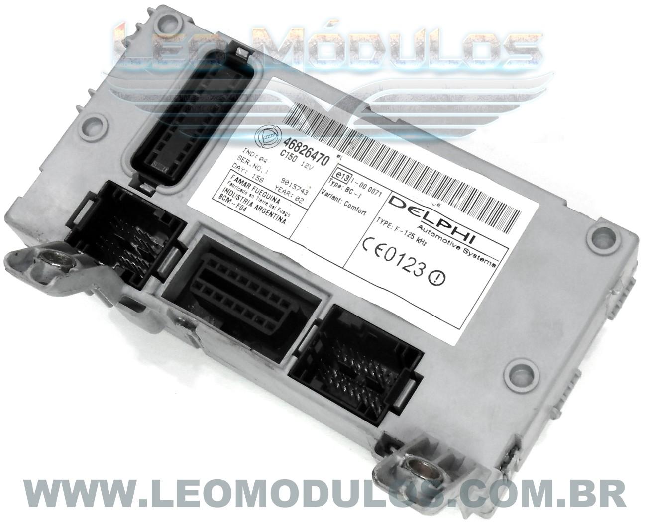 Body Computer BC Delphi 46826470 - Fiat Palio Siena Strada 1.0 16V - Leo Módulos