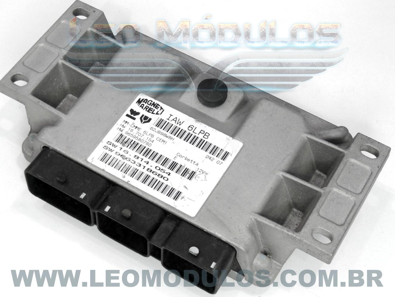 Módulo de injeção marelli - IAW 6LPB - 16.814.054 - 9663318680 - Citroen C4 Picasso Peugeot 307 2.0 16V - IAW 6LPB - Leo Módulos
