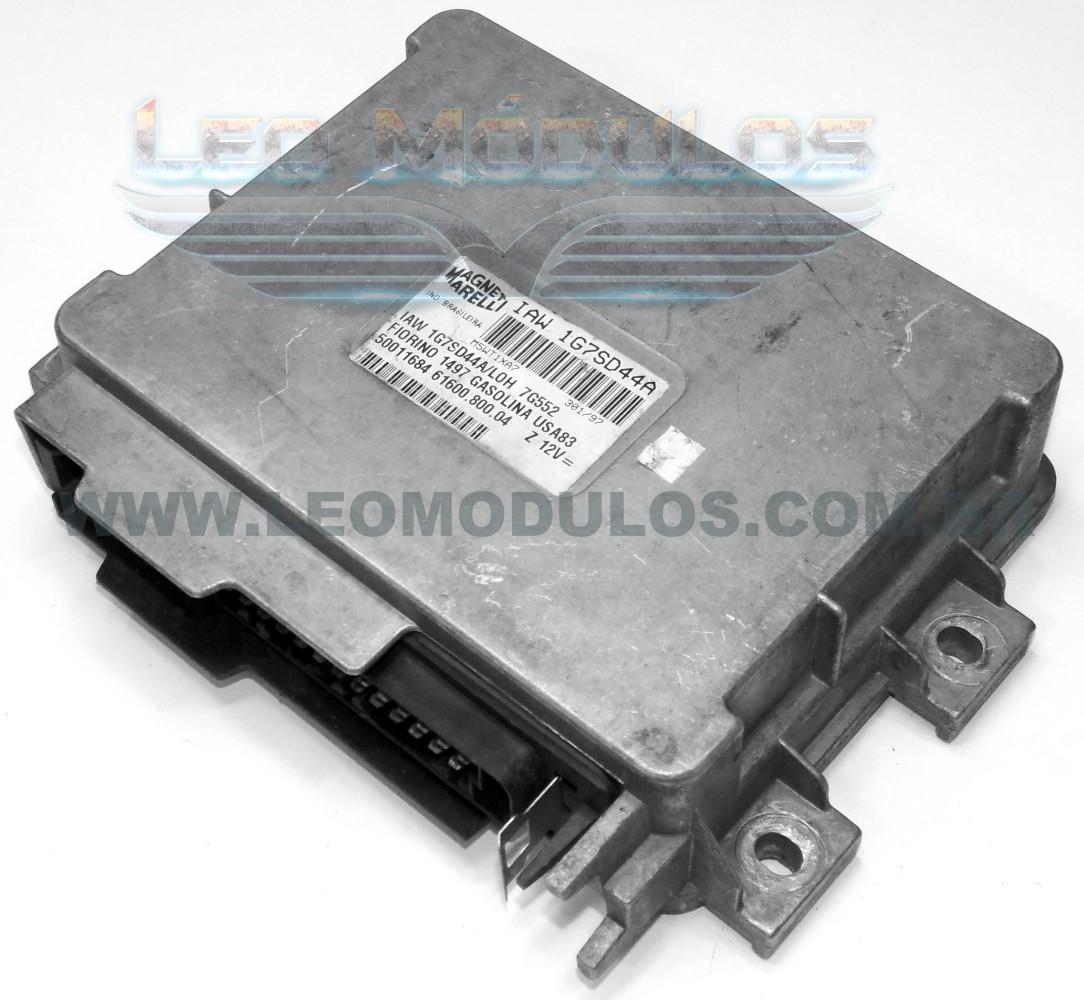 Módulo de injeção marelli - IAW 1G7SD44A - 50011684 - Fiat Fiorino 1.5 8V - 61600.800.04 IAW 1G7SD44A - Leo Módulos