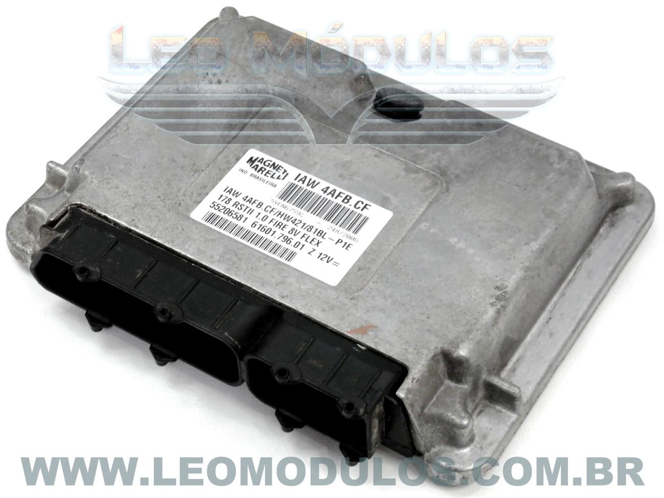 Módulo de injeção marelli - IAW 4AFB.CF - 55206581 - Fiat Palio Siena 1.0 8V Flex - 61601.796.01 IAW 4AFBCF - Leo Módulos