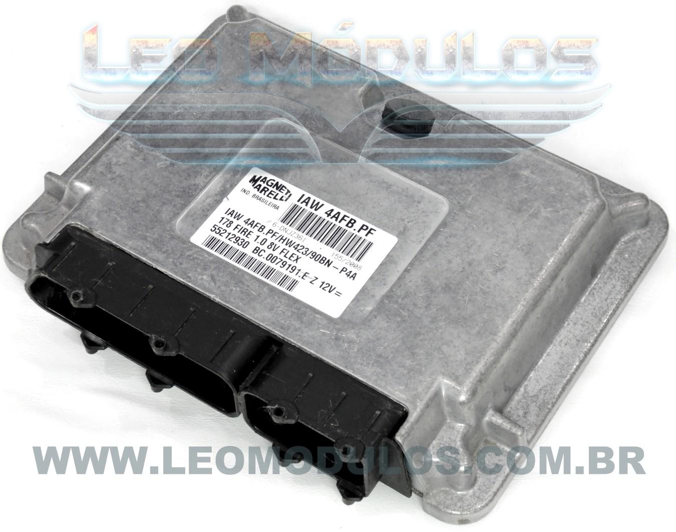 Módulo de injeção marelli - IAW 4AFB.PF - 55212930 - Fiat Palio Siena 1.0 8V Flex - BC.0079191.E IAW 4AFBPF - Leo Módulos