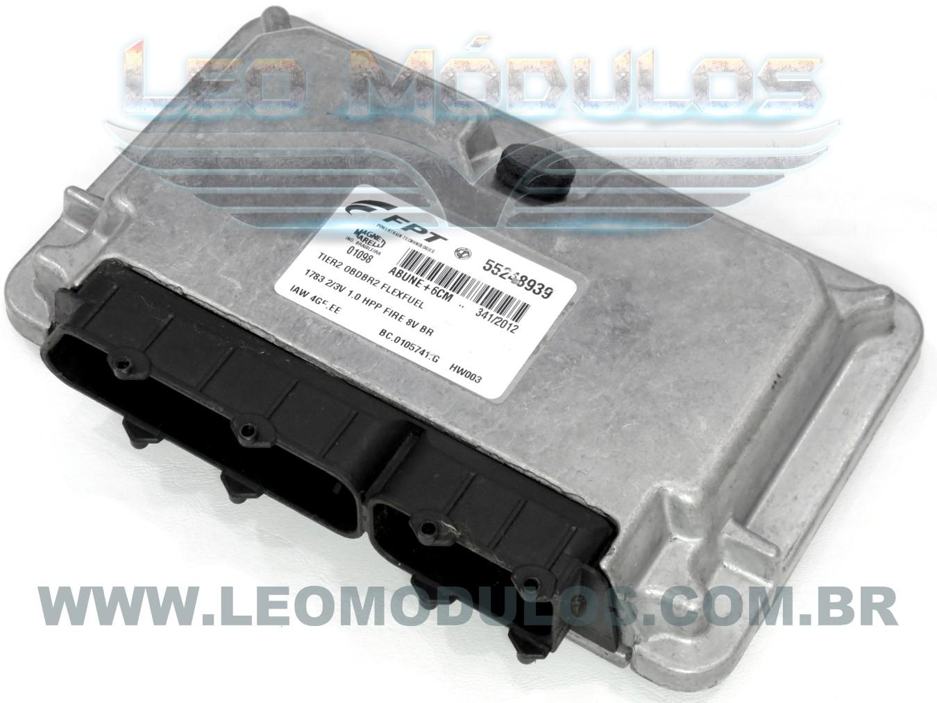 Módulo de injeção marelli - IAW 4GF.EE - 55248939 - Fiat Palio Siena 1.0 8V Flex - BC.0105741.G IAW 4GFEE - Leo Módulos