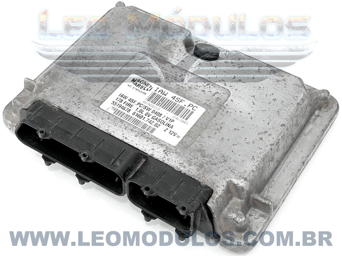 Módulo de injeção marelli - IAW 4SF.PC - 55194678 - Fiat Palio Siena 1.0 8V Gasolina - 61601.742.02 IAW 4SFPC - Leo Módulos