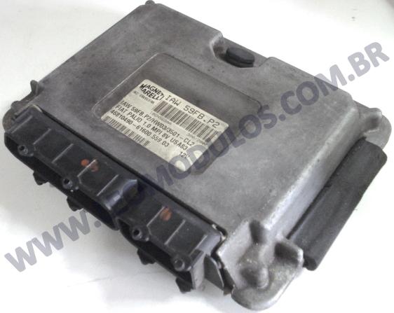 Módulo de injeção marelli - IAW 59FB.P2 - 46810490 - Fiat Palio Siena 1.0 8V Gasolina - 61600.599.03 IAW 59FBP2 - Leo Módulos