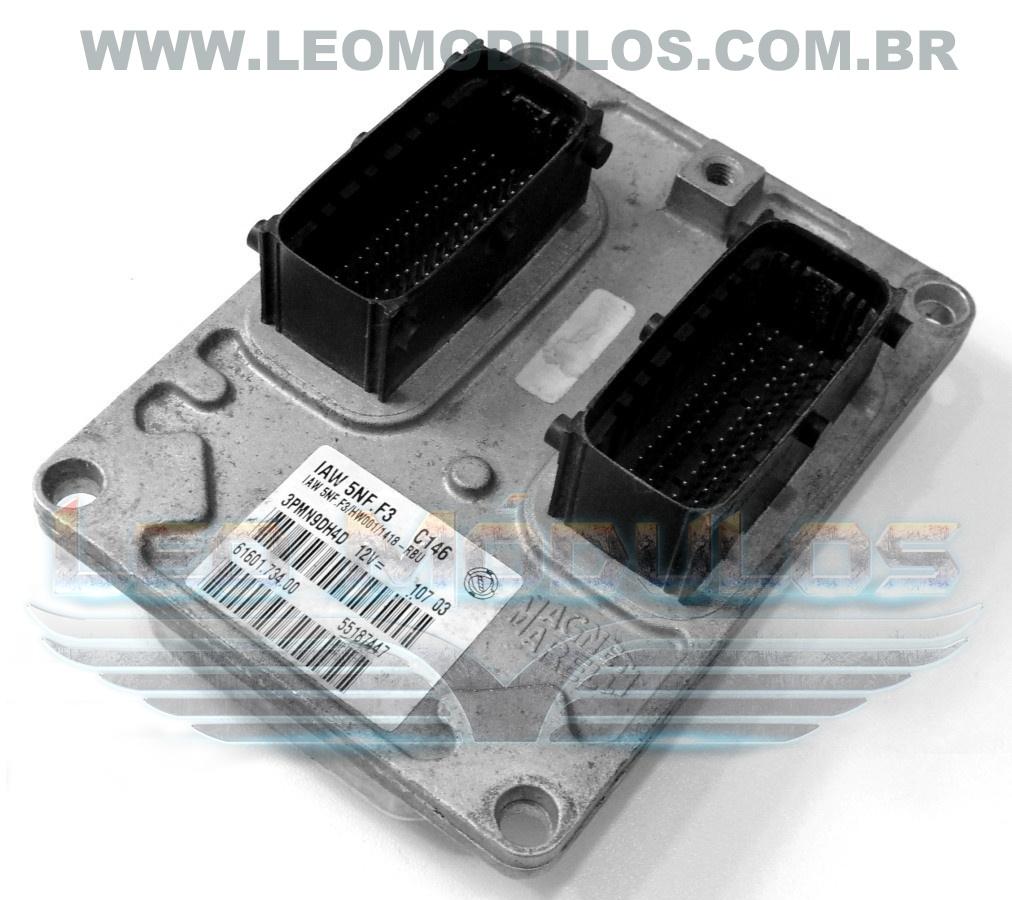 Módulo de injeção marelli - IAW 5NF.F3 - 55187447 - Fiat Palio Siena 1.0 16V - 61601.734.00 IAW 5NFF3 - Leo Módulos