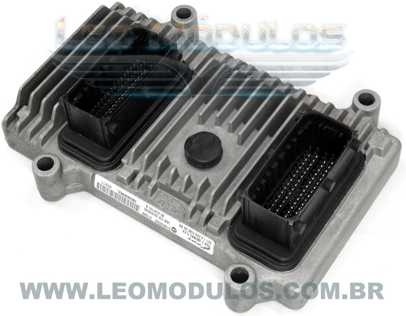 Módulo de injeção marelli - IAW 7GF.EV - 51902559 - Fiat Uno Evo 1.4 8V Flex - BC.0107101.B IAW 7GFEV - Leo Módulos
