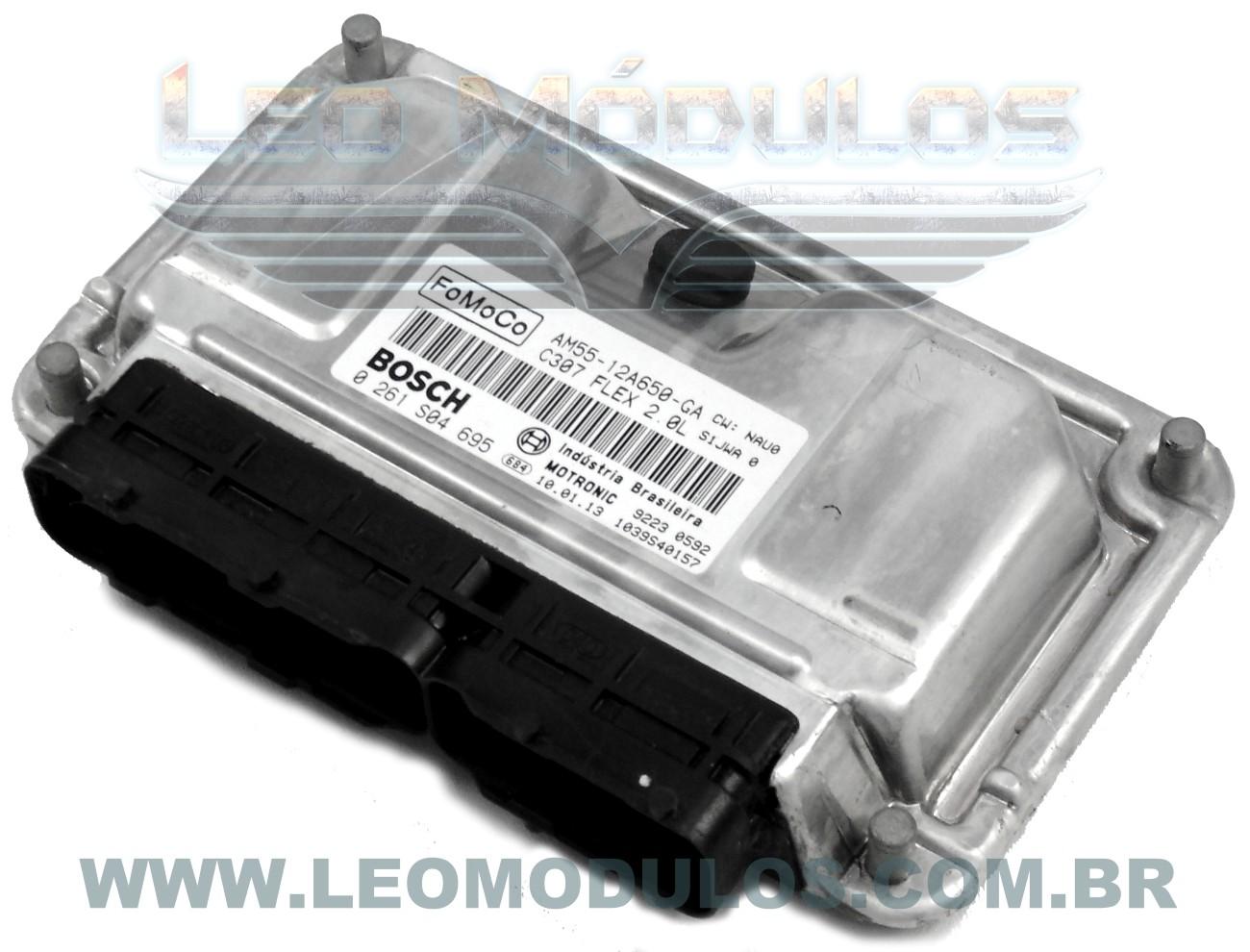 Módulo de injeção bosch Fomoco - 0261S04695 AM5512A650GA - Ford Ecosport 2.0 Flex - 0 261 S04 695 - Leo Módulos