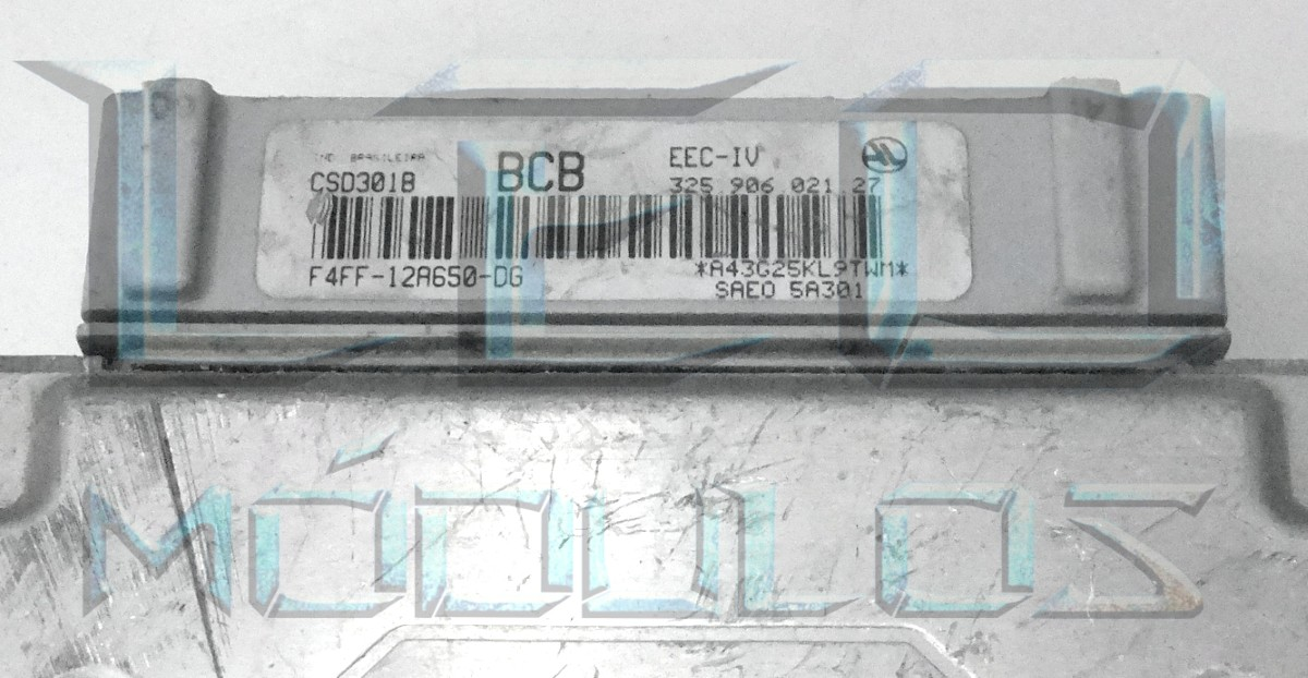Módulo de injeção EEC-VI - BCB F4FF12A650DG 32590602127 - Santana Versailles 2.0 8V EFI - F4FF-12A650-DG 325.906.021.27 - Leo Módulos
