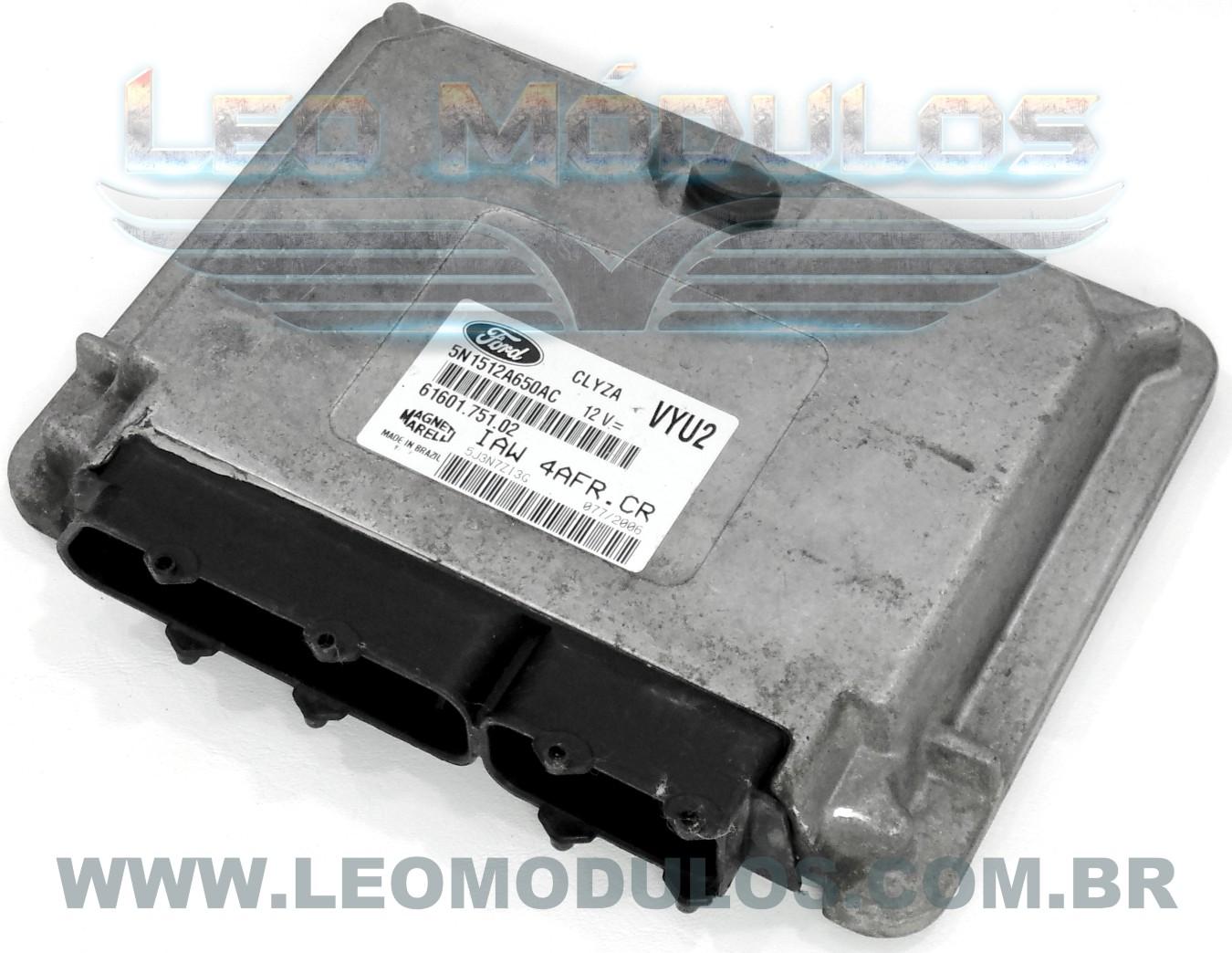 Módulo de injeção marelli - IAW 4AFR.CR VYU2 - 5N1512A650AC - Ford Ecosport 1.6 Flex - IAW 4AFRCR - Leo Módulos