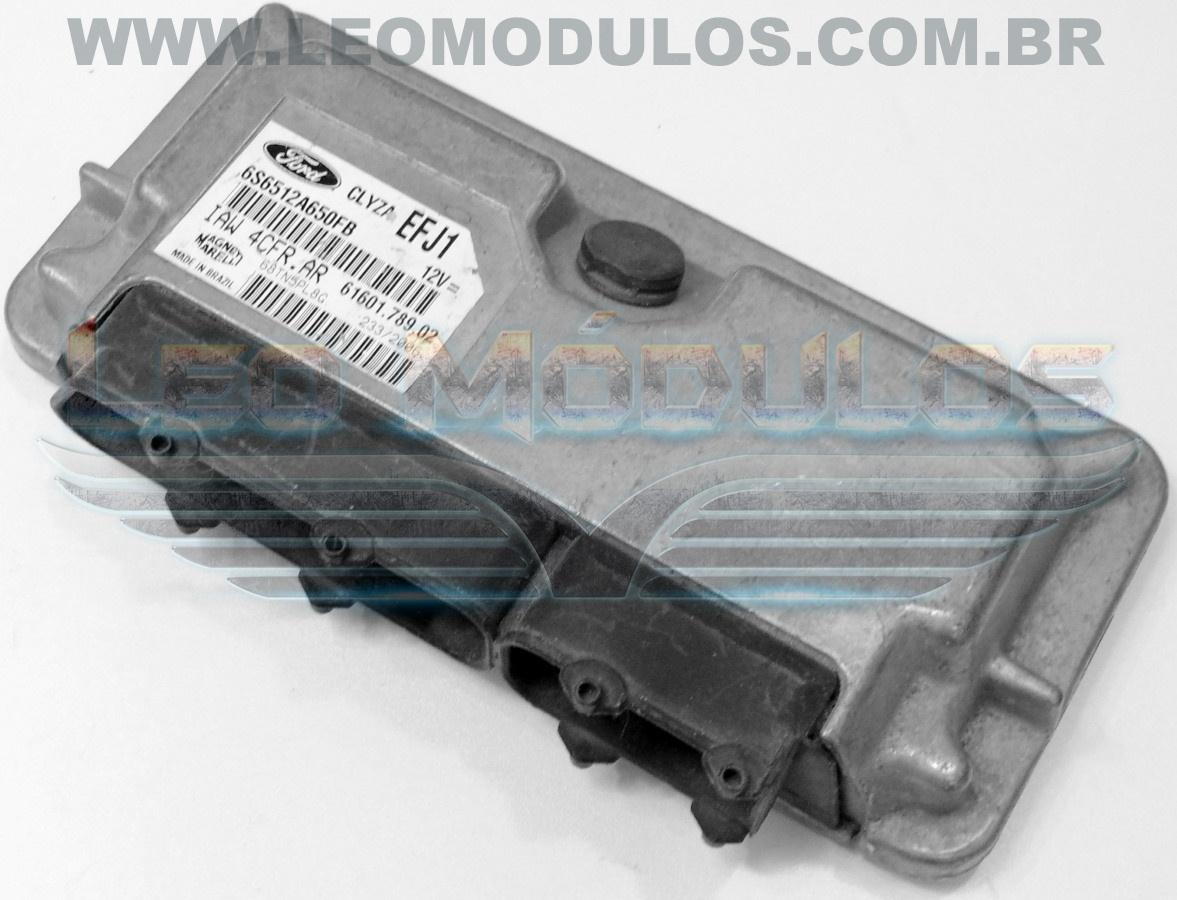 Módulo de injeção marelli - IAW 4CFR.AR EFJ1 - 6S6512A650FB - Ford Fiesta 1.0 Flex - IAW 4CFRAR - Leo Módulos