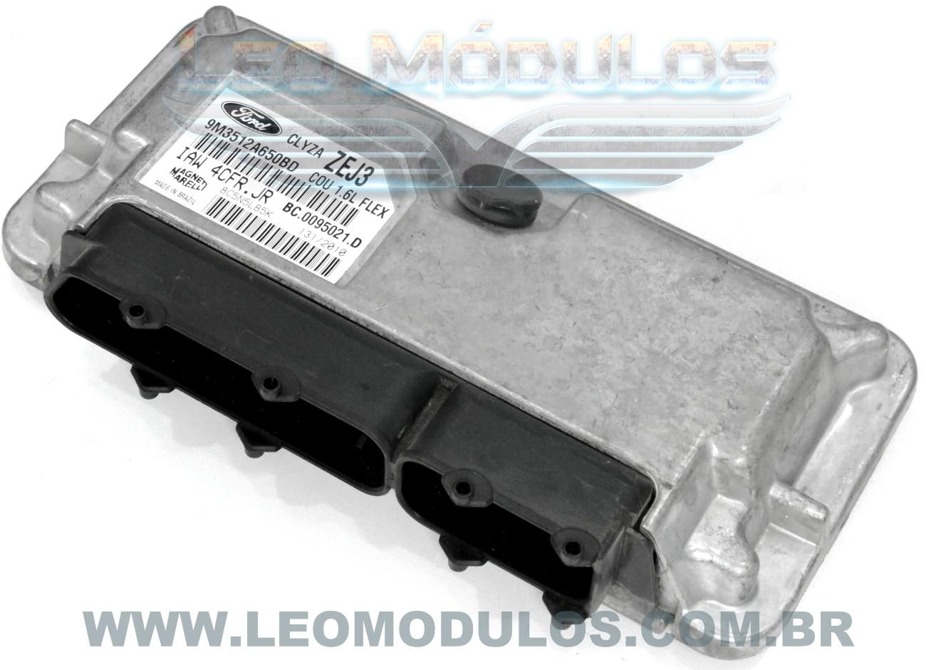 Módulo de injeção marelli - IAW 4CFR.JR ZEJ3 - 9M3512A650BD - Ford Courier 1.6 Flex - IAW 4CFRJR - Leo Módulos