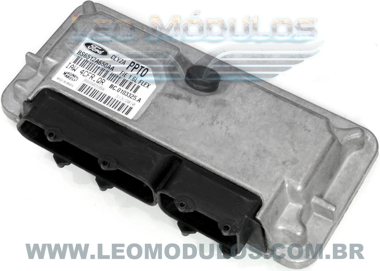 Módulo de injeção marelli - IAW 4CFR.QR PPT0 - BS6512A650AA - Ford Fiesta 1.6 Flex - IAW 4CFRQR - Leo Módulos