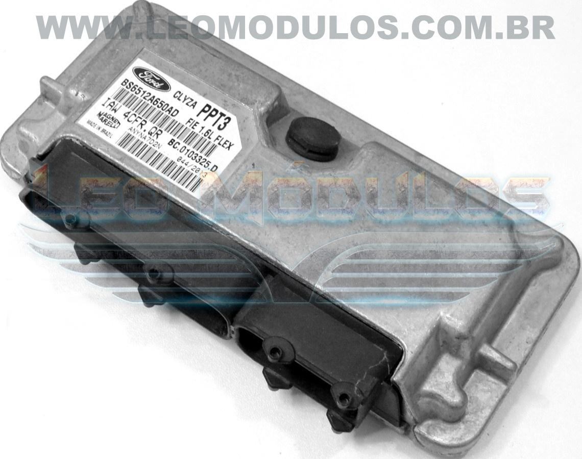 Módulo de injeção marelli - IAW 4CFR.QR PPT3 - BS6512A650AD - Ford Fiesta 1.6 Flex - IAW 4CFRQR - Leo Módulos