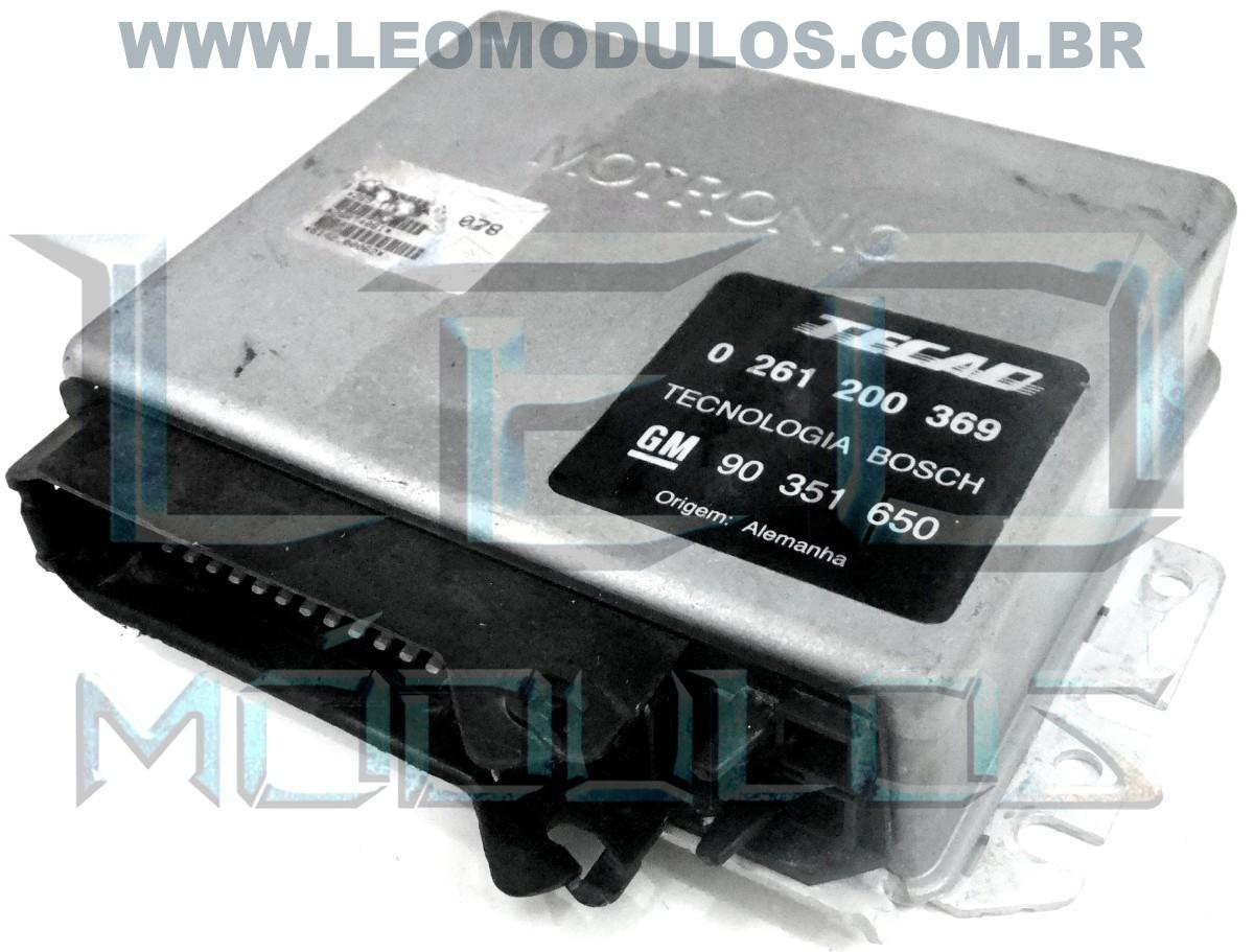 Módulo de injeção bosch M1.5.1 - 0261200369 GG 90351650 - Chevrolet Omega 2.0 - 0 261 200 369 - Leo Módulos