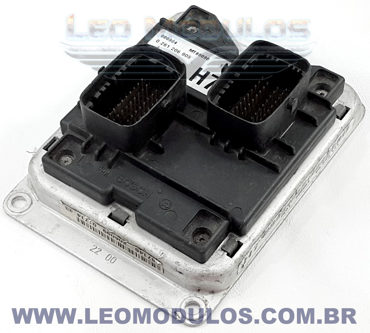 Módulo de injeção bosch M1.5.5 - 0261206905 H7 93336171 - Chevrolet Astra Zafira 1.8 8V - 0 261 206 905 - Leo Módulos