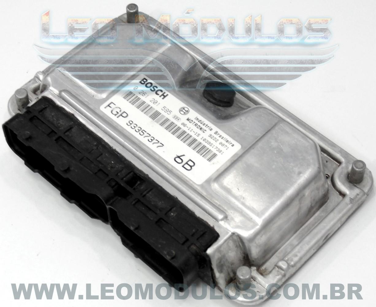 Módulo de injeção bosch ME7.9.6 - 0261201595 6B 93357377 - Chevrolet Vectra 2.0 8V Flex - 0 261 201 595 - Leo Módulos