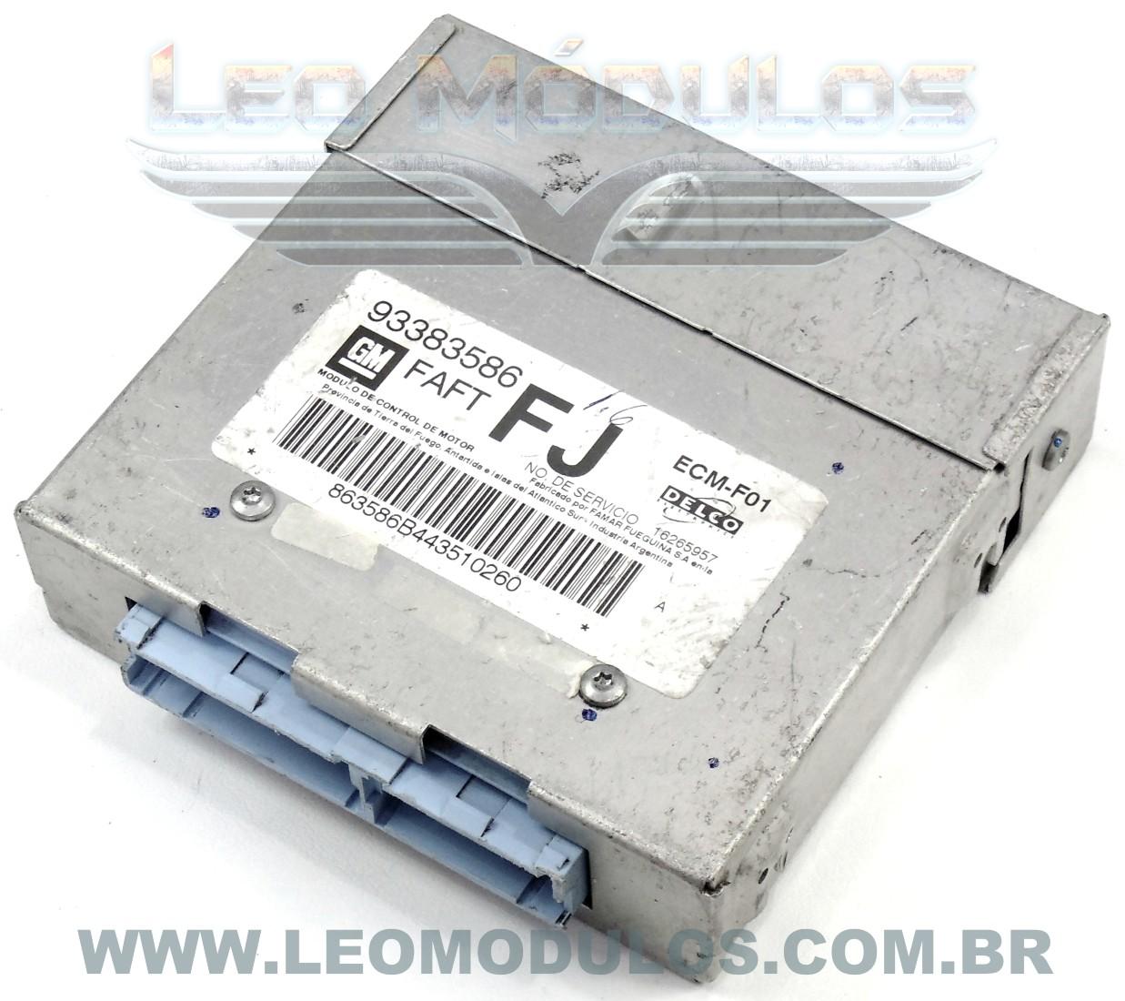 Módulo de injeção multec - FAFT FJ 93383586 16265957 - Chevrolet Corsa MPFI 1.6 8V - FAFT BI - Leo Módulos