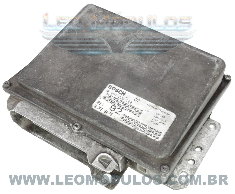 Módulo de injeção bosch MA3.1 - 0261206280 82 9636246480 Peugeot 106 1.0 8V - 0 261 206 280 - Leo Módulos
