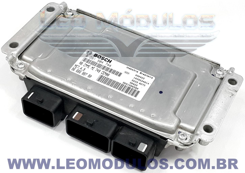 Módulo de injeção bosch ME7.4.9 - 0261S04744 9666688780 - Peugeot C3 1.4 - 0 261 S04 744 - Leo Módulos