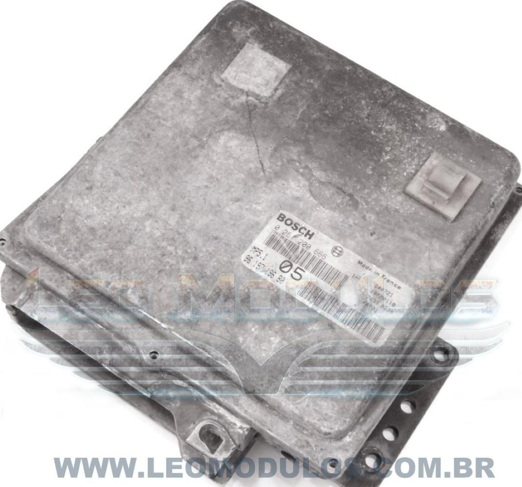 Módulo de injeção bosch MP5.1 05 - 0261200666 9619719680 - Peugeot 405 1.8 - 0 261 200 666 - Leo Módulos