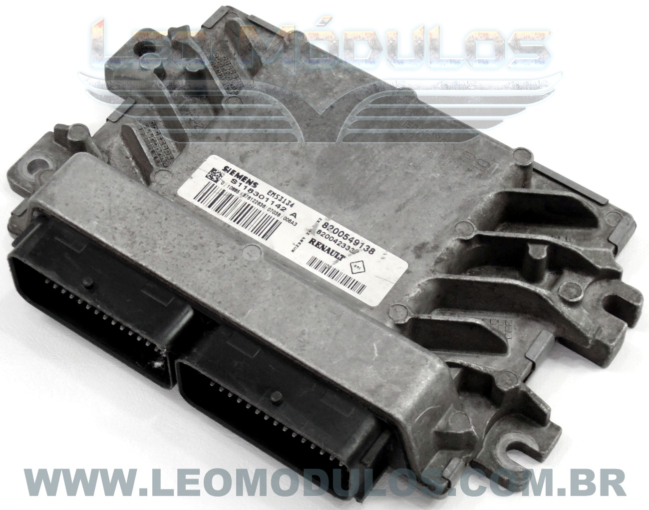 Módulo de injeção siemens EMS3134 - S118301142 A 8200549138 - Renault Scenic 1.6 16V Flex EMS3134 - Leo Módulos