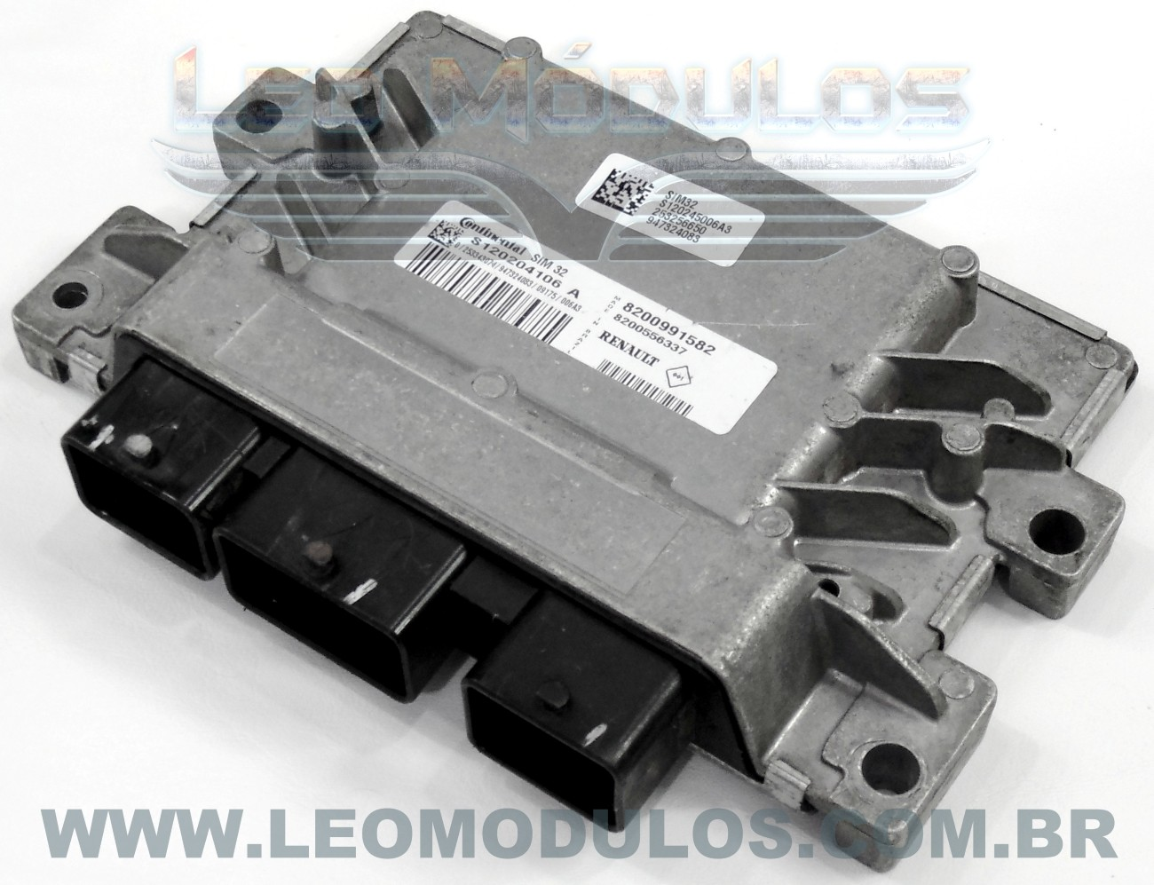 Módulo de injeção siemens SIM32 - S120204106 A 8200991582 - Renault Clio Logan 1.0 16V Flex SIM32 - Leo Módulos