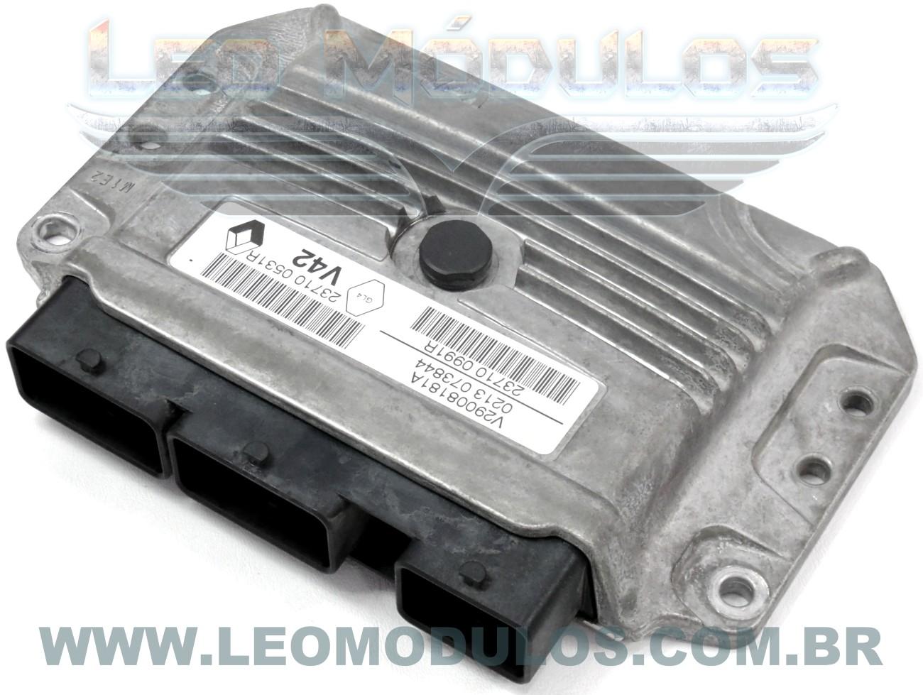 Módulo de injeção sirius 32 - V29008181A - 8200059086 - Renault Logan Sandero 1.6 Flex - V29008181A - Leo Módulos