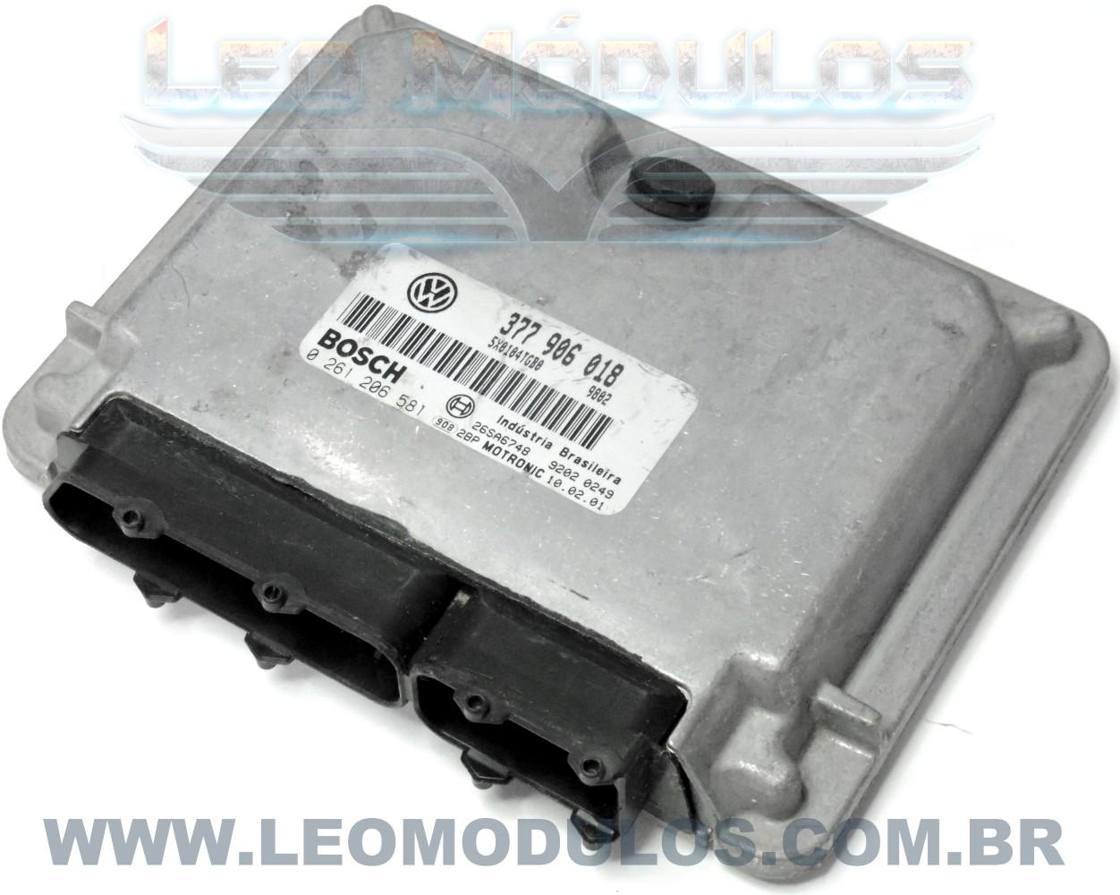 Módulo de injeção bosch M3.8.3- 0261206581 377906018 - Gol 1.0 16V Turbo - 0 261 206 581 - Leo Módulos