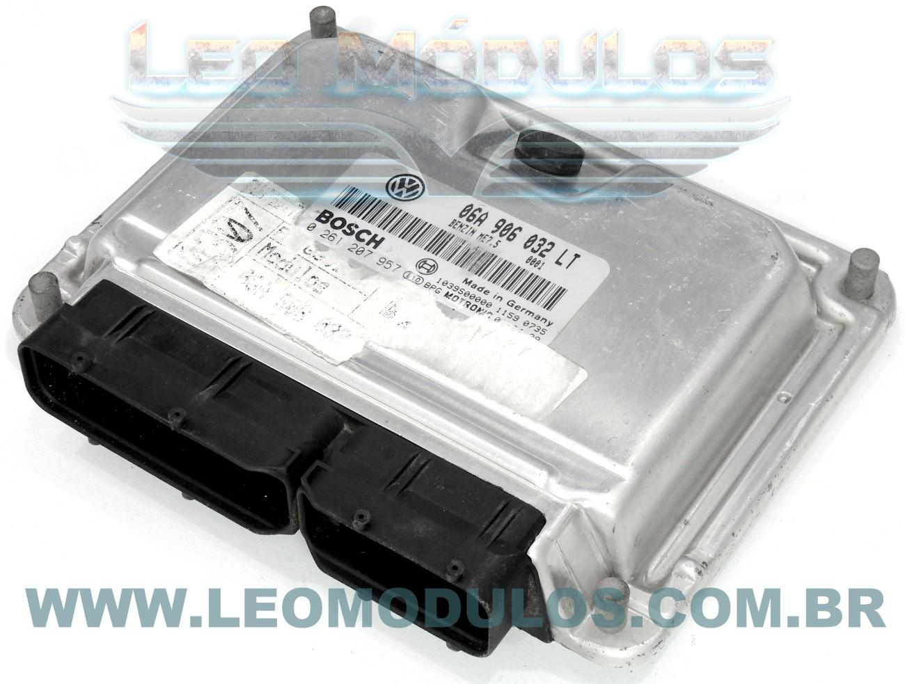 Módulo de injeção bosch ME7.5 - 0261207957 06A906032LT - Golf 1.8 20V Turbo - 0 261 207 957 - Leo Módulos