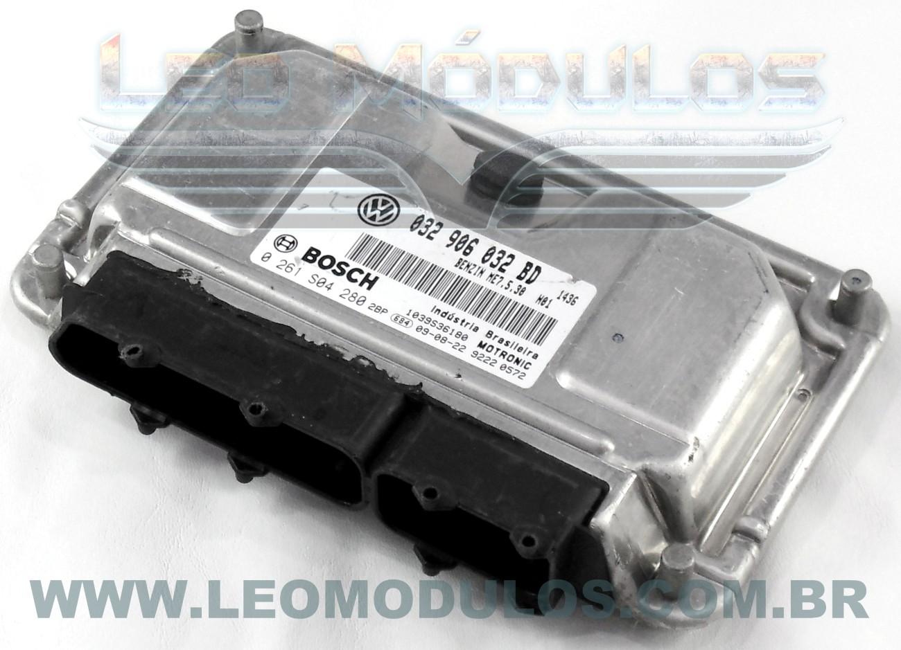 Módulo de injeção bosch ME7.5.30 - 0261S04280 032906032BD - Fox Gol 1.6 8V Flex - 0 261 S04 280 - Leo Módulos