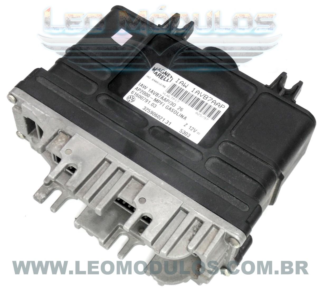 Módulo de injeção marelli - IAW 1AVB7AAP 32590602131 - Santana 2.0 8V - IAW 1AVB7AAP - Leo Módulos