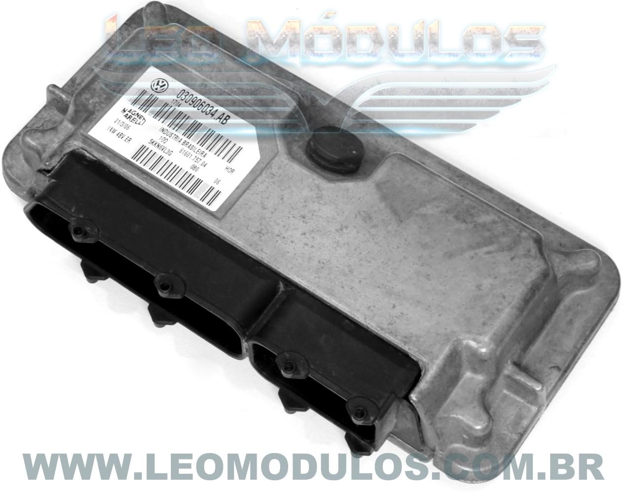 Módulo de injeção marelli - IAW 4BV.ER 030906034AB - Fox 1.0 8V Flex - 030906034.AB IAW 4BVER