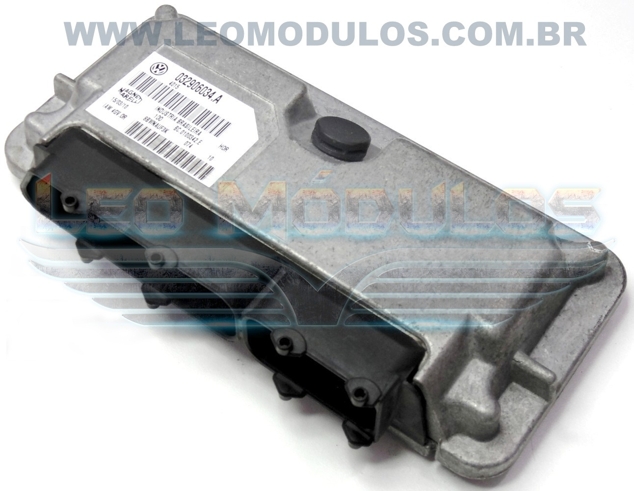 Módulo de injeção marelli - IAW 4GV.OR 030906034A - Fox 1.0 8V Flex - 030906034.A IAW 4GVFR - Leo Módulos
