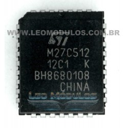 ST - 27C512 | Winbond W27C512 - PLCC 32 - EPROM Apagável