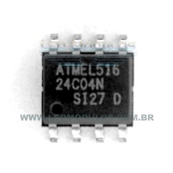 ST Atmel Fairchild - 24C04 - SOIC 8 - Flash EPROM