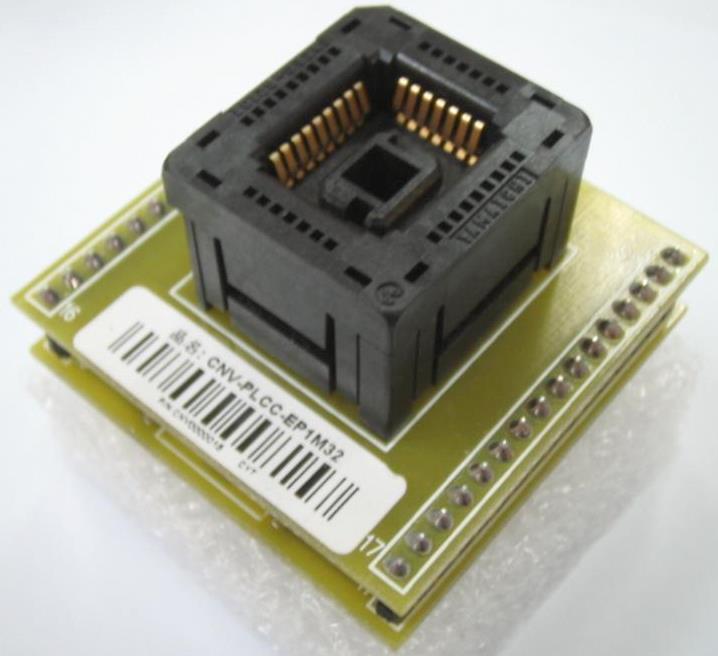 Adaptador PLCC32>>DIP32 Ler e Gravar (Ejetável ou Com Trava)