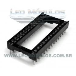 Soquete Socket DIP 28 Pinos (Direto na Placa)